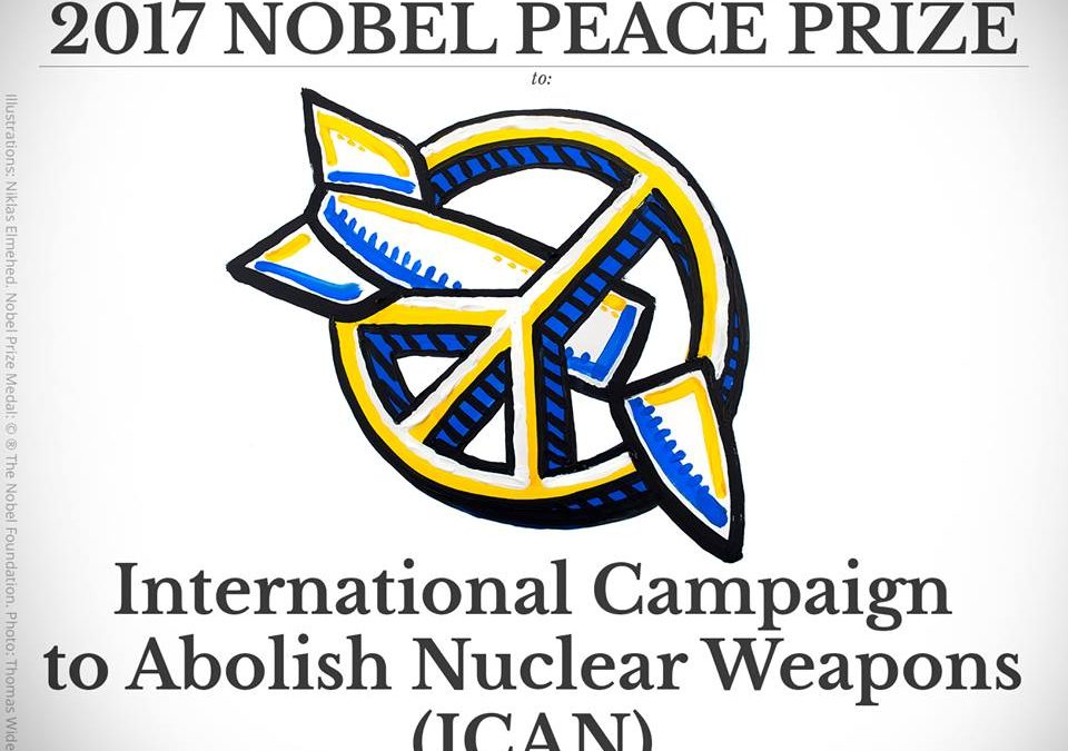 ICAN is awarded Nobel Peace Prize for Nuclear Ban Treaty