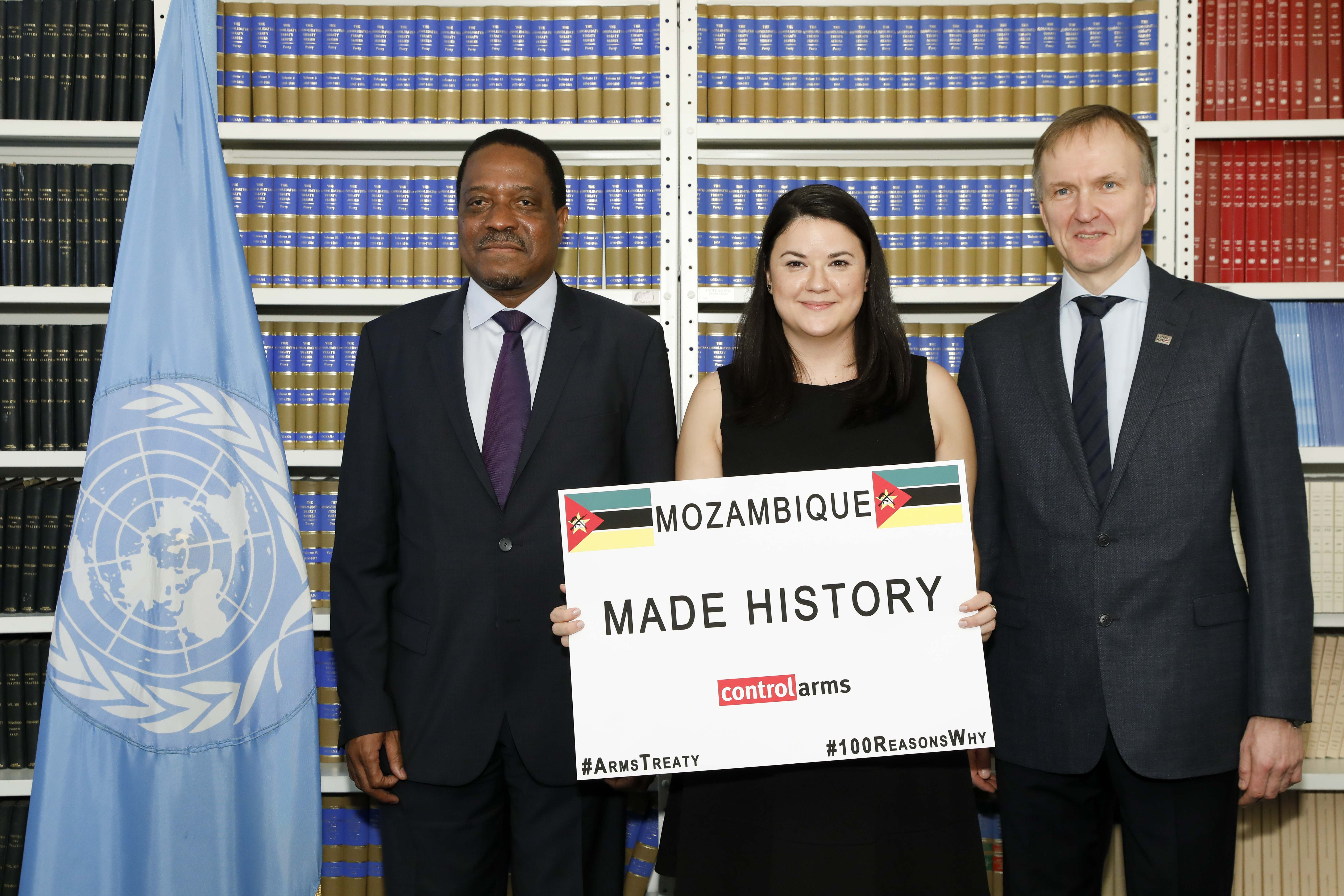 Mozambique joins the Arms Trade Treaty as 100th state party on Friday, Dec. 14, 2018, in New York City
