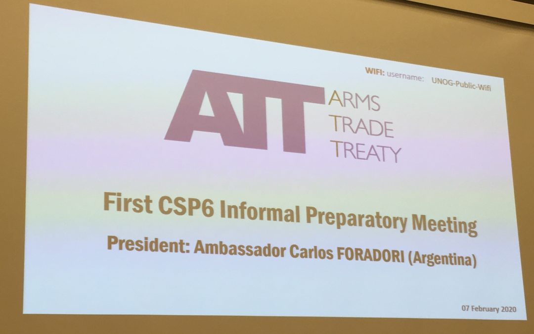 First Round of ATT CSP6 Preparatory Meetings held in Geneva